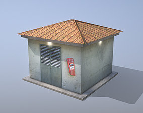 MilitaryBase PortoVelho Transformer 3D asset game-ready