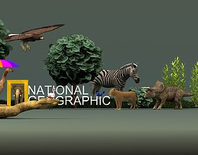 National Geographic scene 3D model nations
