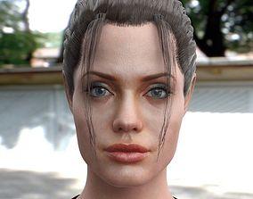 realtime 3d model Angelina Jolie body
