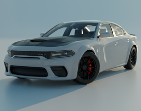 Dodge Charger Hellicat low poly 3D model