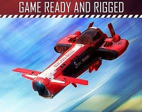 3D model Sci-fi Racing Spaceship