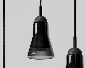 Shadow Large Pendants - Black and White 3D