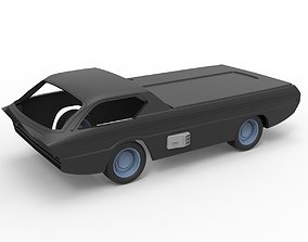 Diecast shell and wheels model Dodge Deora Scale 1 to 24