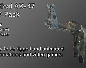 3D model Tactical AK-47 LOD Pack