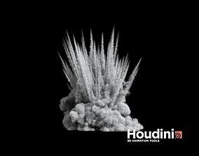 3D model animated Houdini - Shrapnel Explosion