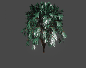 3D model grow Green tree