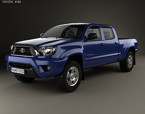 3D Toyota Tacoma Double Cab Long Bed 2012