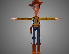 Woody Rigged 3D asset