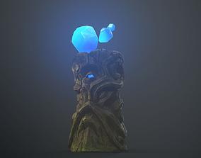 Fantasy ancient statue PBR 3D asset