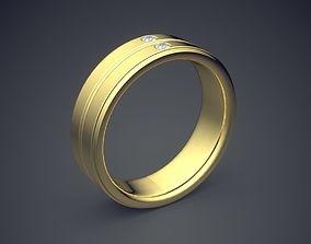 3D printable model Minimal Design Golden Ring With Small
