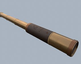 Telescope Rigged PBR 3D model animated