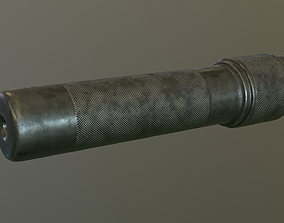 3D asset Ak rifle silencer