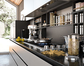 lemons Modern Kitchen 3D