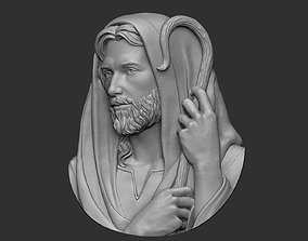 3D printable model Jesus The Good Shepherd Pendant