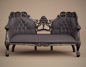 3D Fabulous and Baroque Twoseater sofa