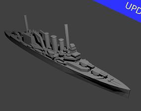 3D printable model British County Class Cruiser Warship