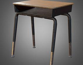 3D asset Classroom Student Desk- PBR Game Ready