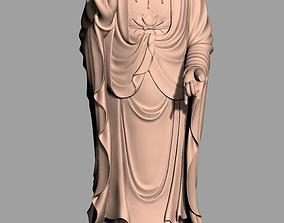 3D Chinese Sculpture Model Guanyin 3