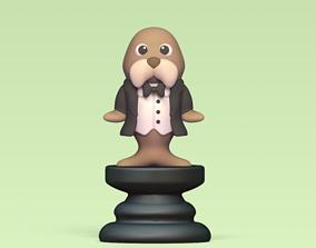 3D printable model Alice Chess - Side B - Bishop - Walrus