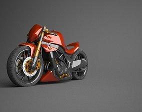 3D model Kawasaki Ninja Naked modified