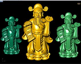 God of wealth pendants 3D printable model