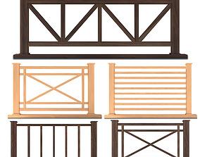 3D model Fence Set 01
