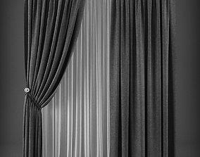 VR / AR ready Curtain 3D model 252 VR