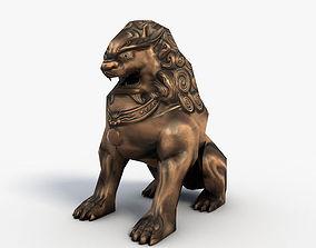 3D asset Chinese guardian lion