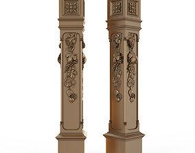 stair column for cnc 3D model