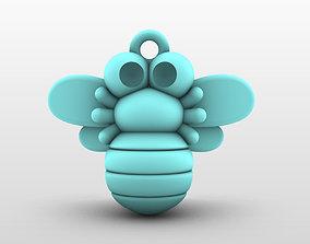 3D print model Charm pendant - adorable little bee