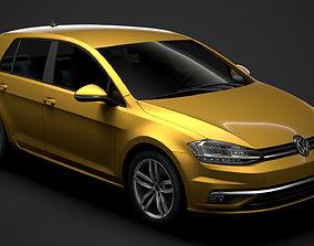 3D model VW Golf TSI 5door Typ5G 2019