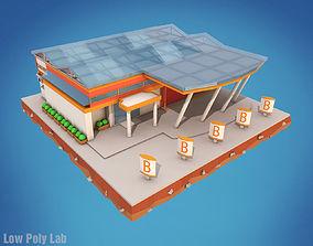3D model Cartoon Supermarket City Building
