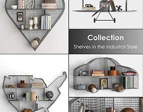 Shelves in the Industral Style 3D model