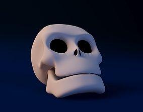 3D model human Cartoon Skull