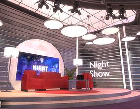 News studio - exposition stands 3D asset