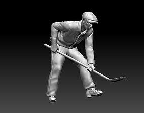 3D print model digger