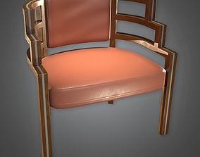 3D asset Designer Chair Art Deco - PBR Game 1