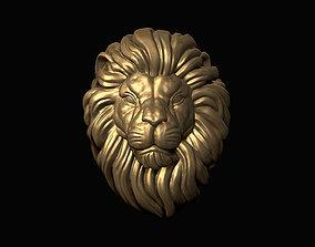 Lion Head nature art 3D print model