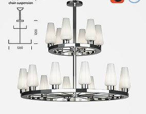 Chelsom Atrium AT 44 12 6 ceiling lamp 3D