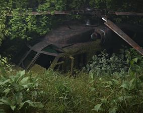 UH-60 Blackhawk jungle destroyed military 3D