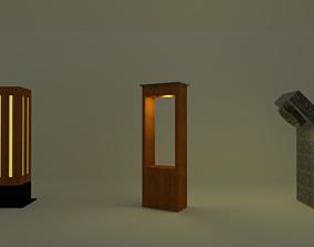 Garden Bollard Lights 3D model