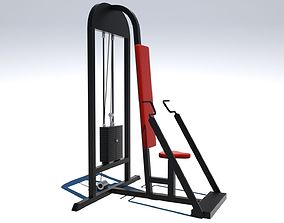 3D model Chest Press Machine - Octane and Mental Ray