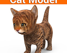 game-ready 3D Cat low poly pet