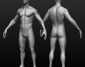 Base mesh male body 3D model