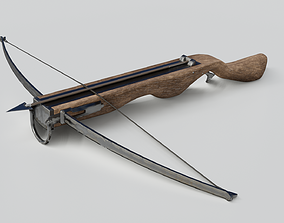 Crossbow 3D model low-poly PBR