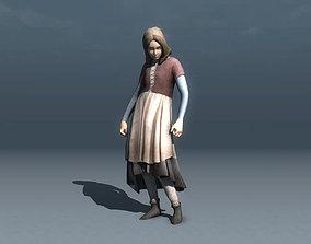 3D asset Medieval Girl