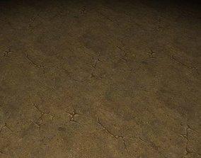 ground stone tile 01 3D model