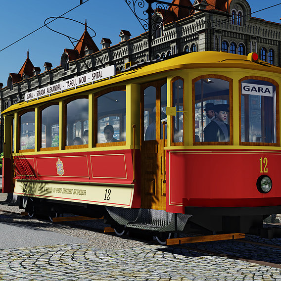 SKODA tram in Chisinau 1939