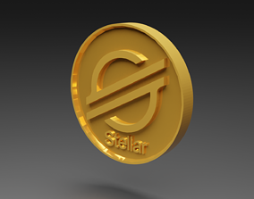 3D model animated Stellar Coin Gold