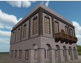 3D Neoclassical Building